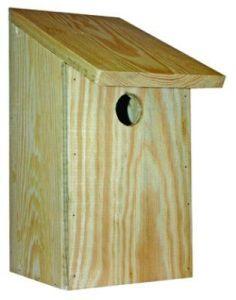 Fuglekasse med 3,5 cm hull