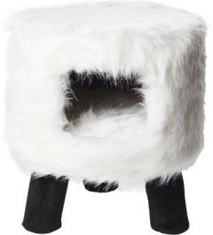 Kattemøbel Huebii fluffy hvit L