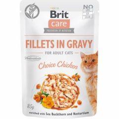 Brit Care Cat Filet Gravy Kylling 85g