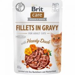 Brit Care Cat Filet Gravy Duck 85g