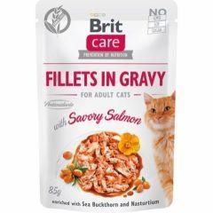 Brit Care Cat Filet Gravy Salmon 85g