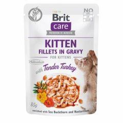Brit Care Cat Kitten Filet Gravy Kalkun 85g