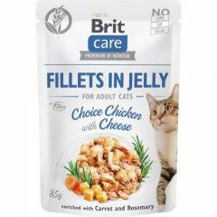 Brit Care Cat Filet Jelly Kylling & ost 85g