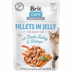 Brit Care Cat Filet Jelly kalun & reker 85g