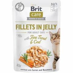 Brit Care Cat Filet Jelly Torsk & Ørret 85g