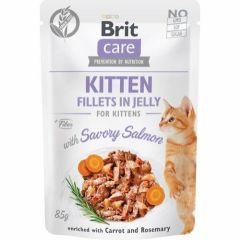 Brit Care Cat Kitten Filet Jelly Laks 85g