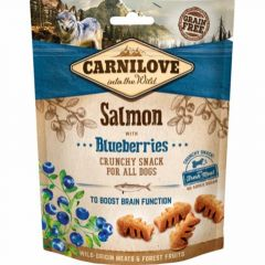 Carnilove Crunchy Snack Laks & Blåbær