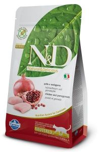Farmina Cat N&D Grain Free Chicken & Pomegranate Neutered 1,5kg