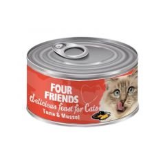 Four Friends våtfôr til katt tunfisk & musling 85g