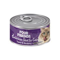 Four Friends våtfôr tunfisk & ansjos 85g