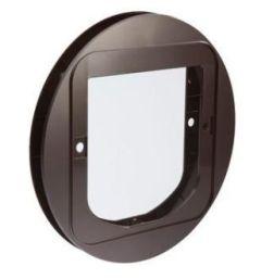 Adapter Sureflap for montering glass/stål brun