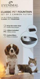 Karbonfilter for Eyenimal drikkefontene