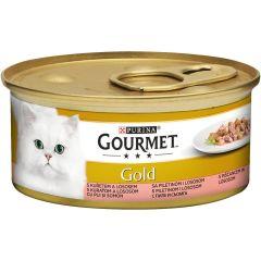 Purina Gourmet Gold Laks & Kyllingbiter i saus 85 g