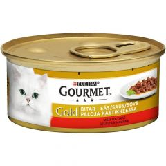 Purina Gourmet Gold oksekjøtt i saus 85 g