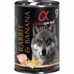 Alpha Spirit Våtfôr Rabbit & Banana 400g