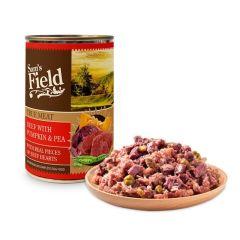 Sam's Field våtfôr Beef med Gresskar og erter 400g