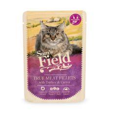 Sam's Field Cat Pouch Kalkun & Gulrot 85g