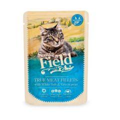 Sam's Field Cat Pouch Hvit fisk & Erter 85g