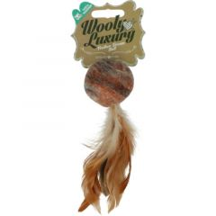 Wooly Luxury Feather Dream Ball Brun