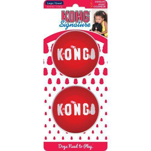 Kong Signature Balls 2pk Large