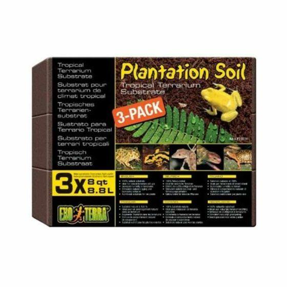 Exo Terra Plantation Soil 650g 3pk
