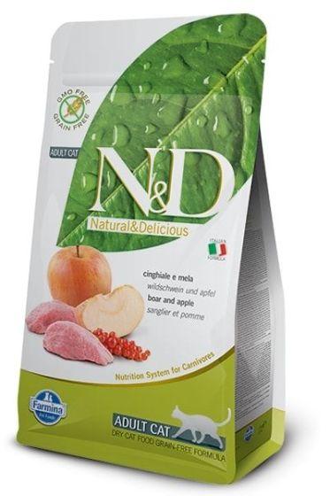 Farmina Cat N&D Grain Free Boar & Apple Adult 1,5kg