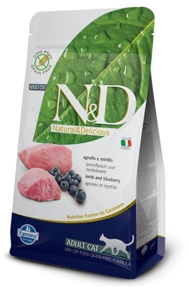 Farmina Cat N&D Grain Free Lamb & Blueberry Adult 5kg