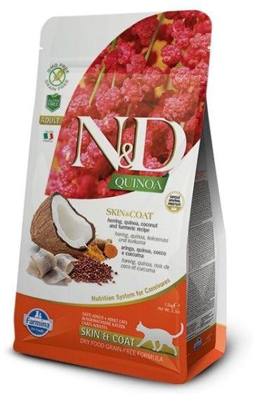 Farmina Cat N&D Quinoa Skin & Coat Herring Adult 1,5kg