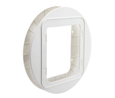 Adapter Sureflap for montering glass/stål hvit