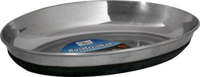 Mat & vannskål Oval rustfri anti-slip 250 ml