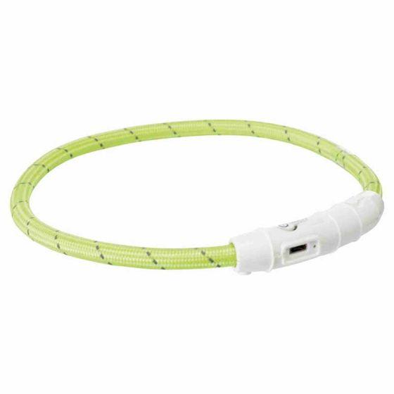 Oppladbart Halsbånd Med Lys og Refleks Grønn